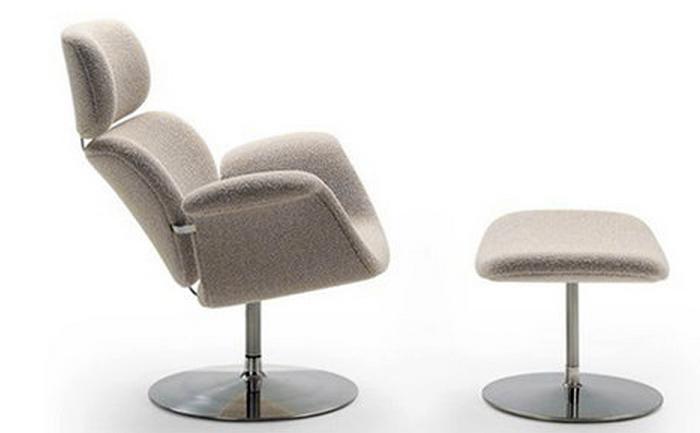 Pierre Paulin swivel lounge chair