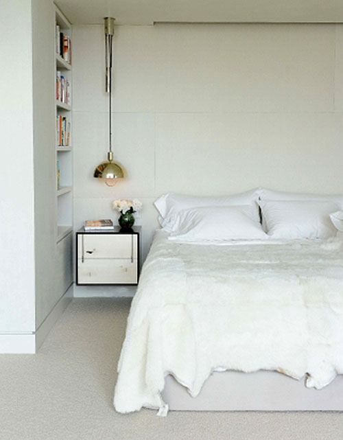bedroom design- bedside pendant lights