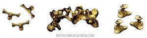 brass hardware designed by Gaudi