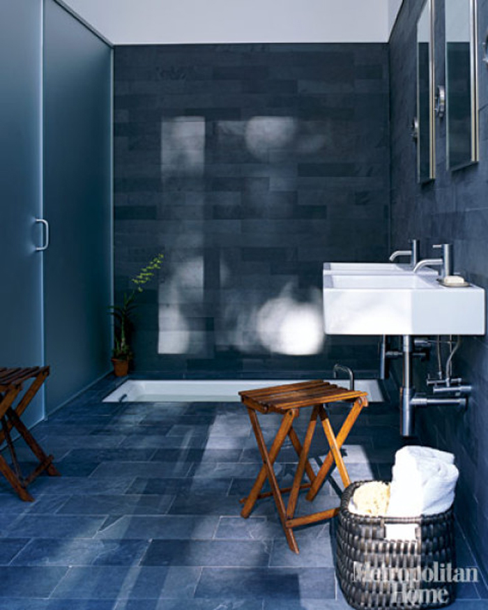 dark slate bathroom design slate