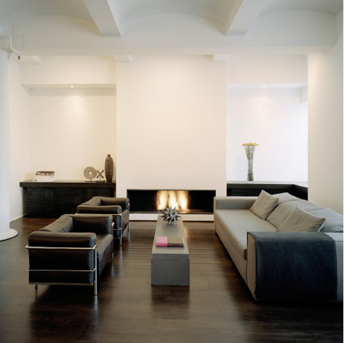 dark wood floors _ living room