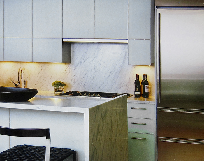 kitchen design - marble counterops & back-splash