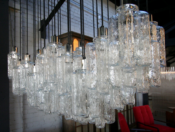 multi penant glass chandelier
